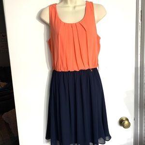 Orange and blue Maurice's dress